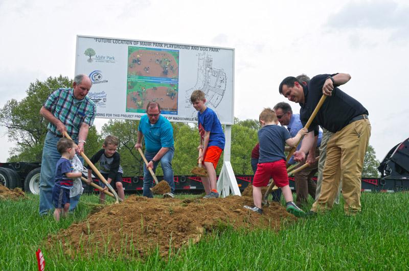 community group breaks ground for new dog park